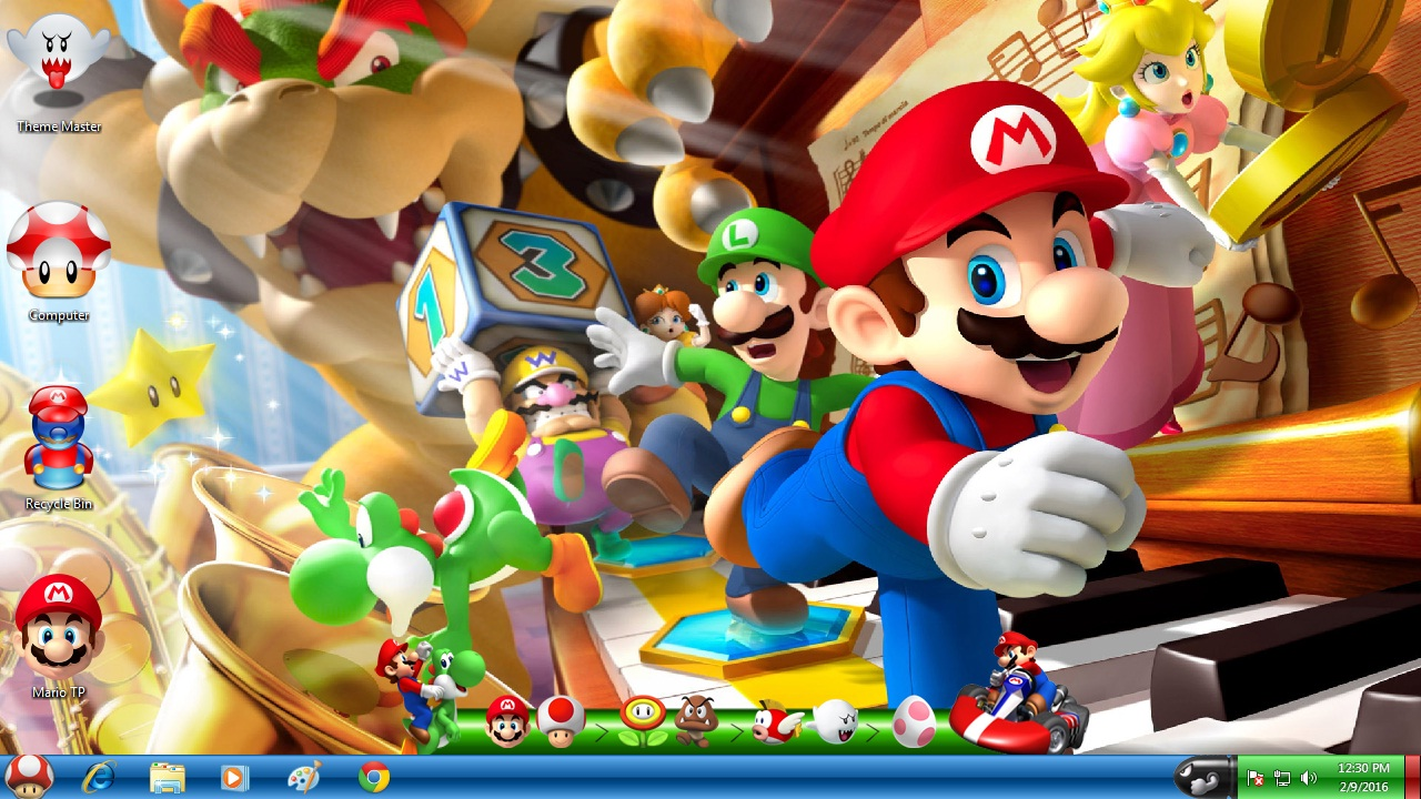 Super Mario Transformation Pack for Windows 7 / 8 / 8.1 / 10