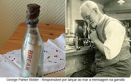 George Parker Bidder - Responsável por lançar ao mar a mensagem na garrafa