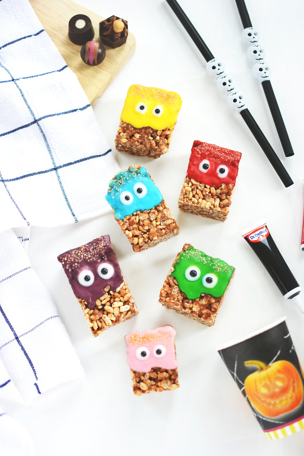 Halloween rice crispy cakes recipe