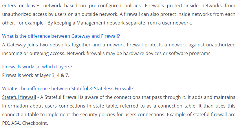 ASA Firewall Interview Question with Answer