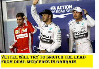 Vettel will try to snatch the lead from dual-Mercedes in Bahrain