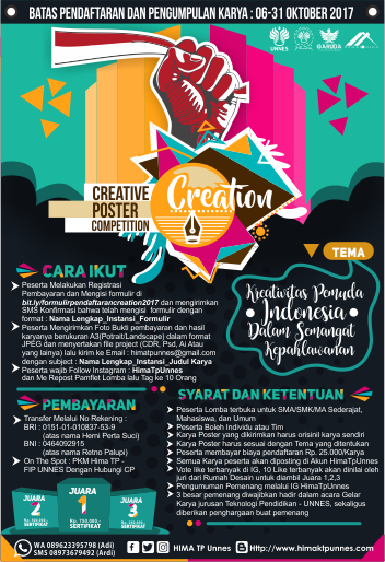 Lomba Creative Poster Competition (CREATION 2017)