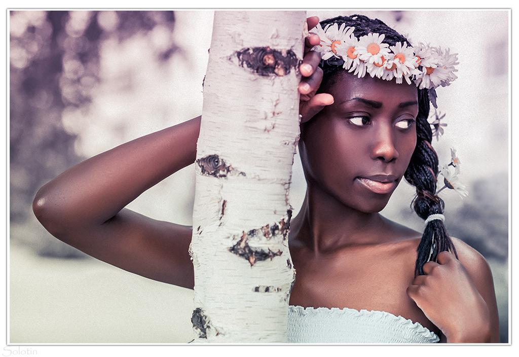 фотосессия африканки в русском образе