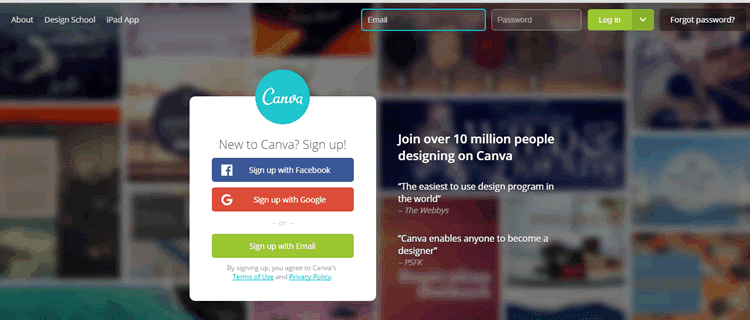 Design your marketing materials with Canva
