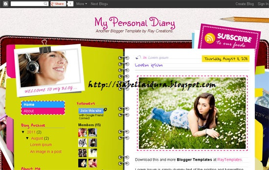 Blog, Blogger, theme blog, template blog