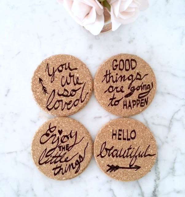 Diy calligraphy coasters hostess gift harlow thistle