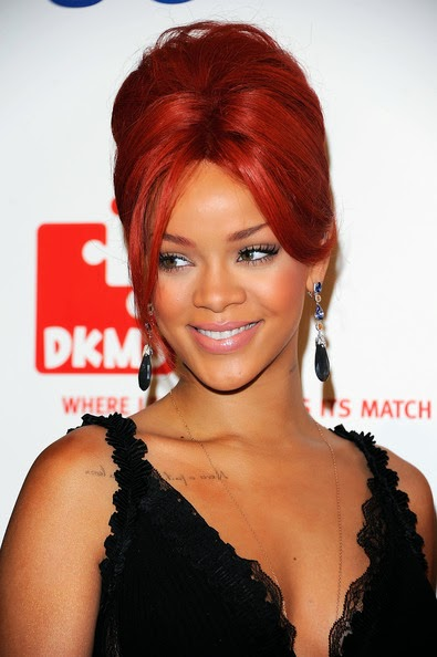 Rihanna French Twist updo
