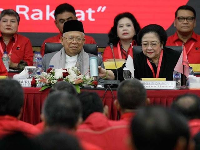 PDIP Nilai Ma'ruf Amin Ulama Besar, Tak Mungkin Hatinya Dibutakan Kekuasaan
