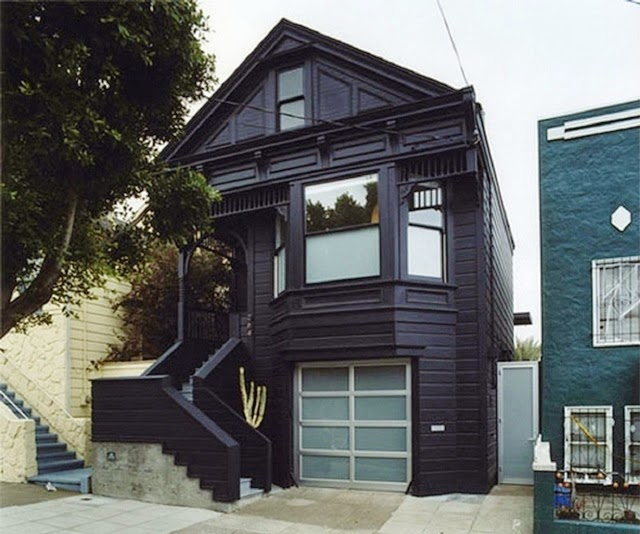 exterior wall paint black