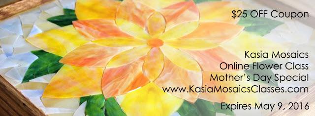 http://www.kasiamosaicsclasses.com/course/online-flower-class/