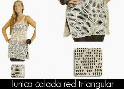 Tunica larga red dibujo triangular patron