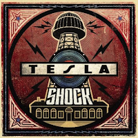 Image of the cover of rock band Tesla's new album Shock