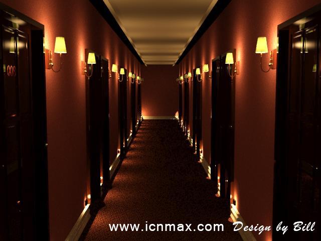 3dsMax酒店走廊設計作品