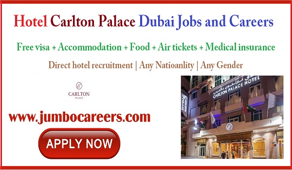 Direct recruitment jobs in Dubai, Dubai hotel jobs for Indians,