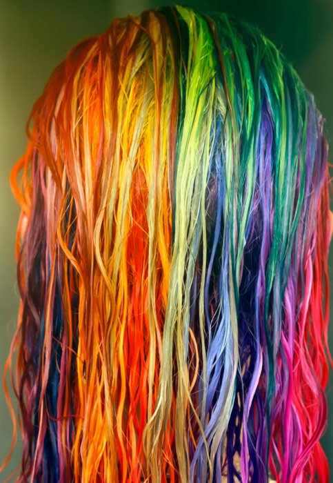 The Fabulous Stains: Rainbow Colored Hair