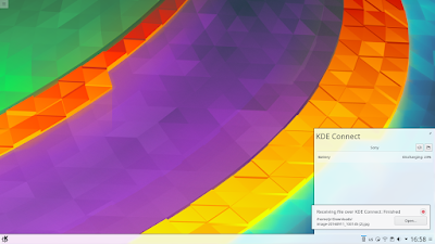KDE plasma 5.8 phone integration