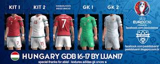 Kit Hungary Adidas 2016-17 Pes 2013