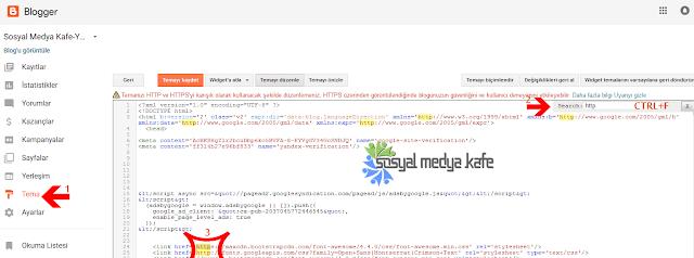 Blogger HTTPS Tema Güncelleme