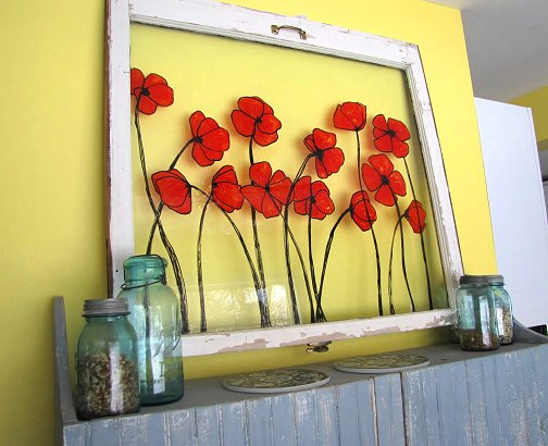 Dishfunctional designs beautiful upcycled painted for Creative window designs