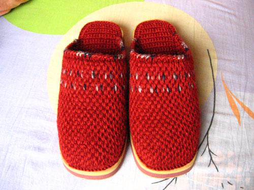 Zapatillas de Crochet con Suela de Goma