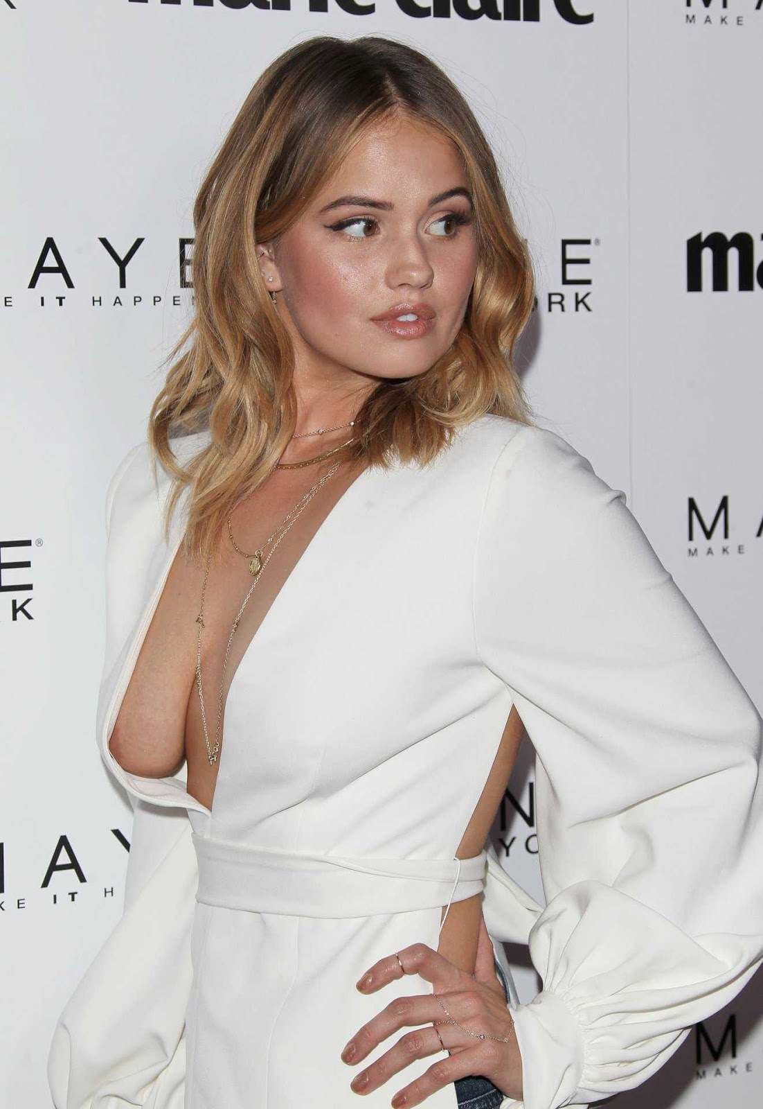Debby Ryan suffers nipslip at Marie Claire's Fresh Faces event in LA