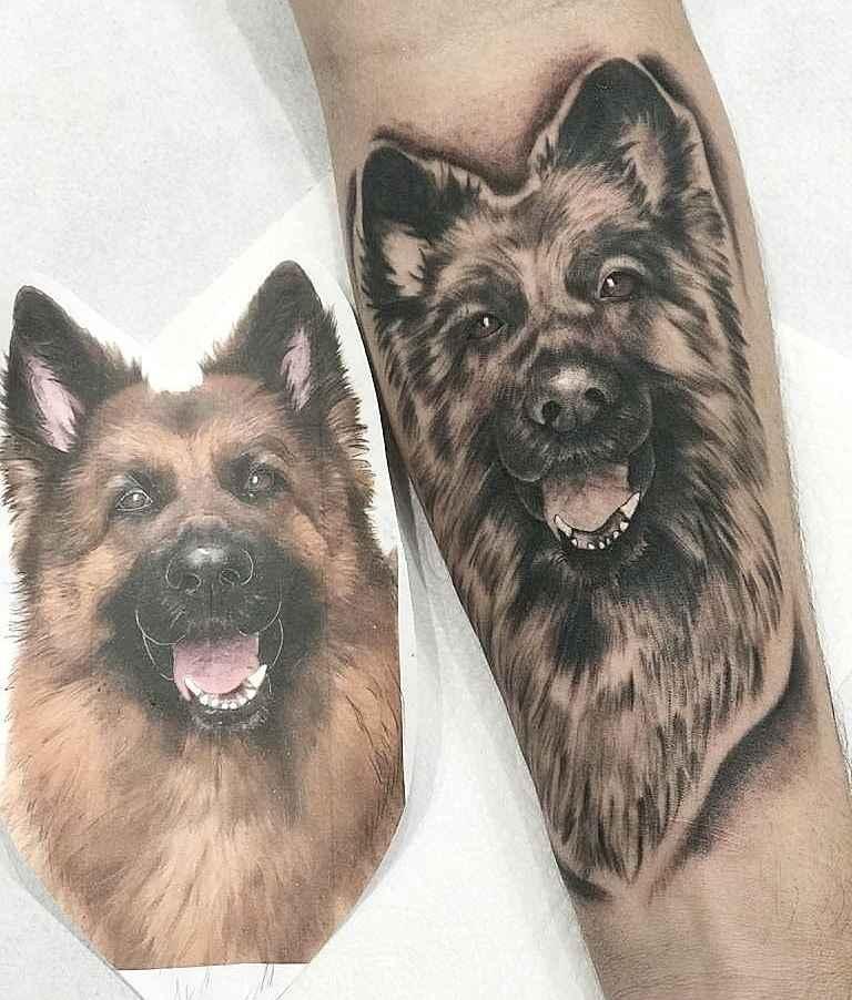 German Shepherd Tattoo