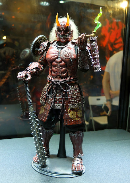 osw.zone Seen on CICF 2017 - DARKCROWN TOYS newest creation: Burning Souls Cyborg Samurai series