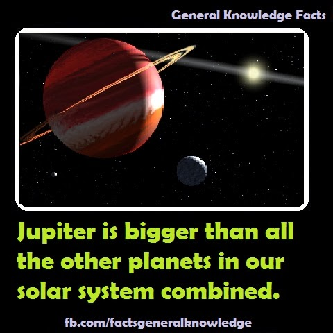 Jupiter is bigger than all the other planets in solar system put together
