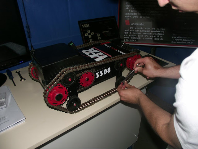 Ajustando o robô
