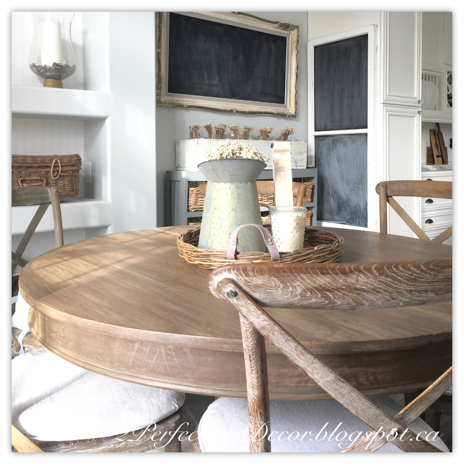 2Perfection Decor: Round Kitchen Table Makeover