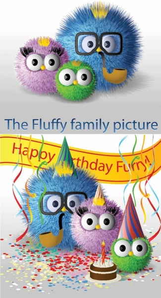 Cute hair bulb family vector Free Download vector