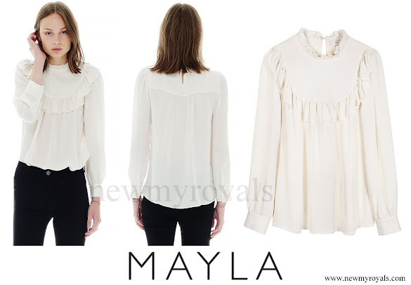 Crown Princess Victoria wore MAYLA Daria silk blouse