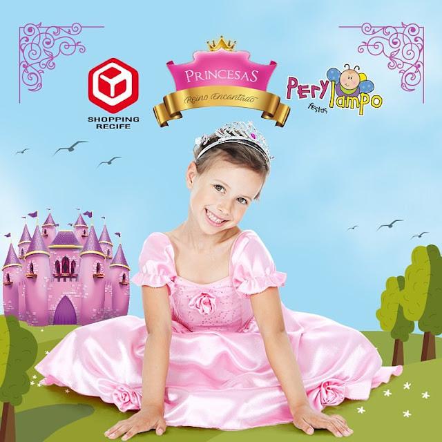 """Shopping Recife e Perylampo Festas realizam evento """"Princesas – Reino Encantado"""""""