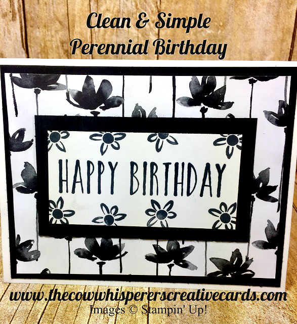 Card, Clean & Simple, Perennial Birthday, Petal Passion Paper