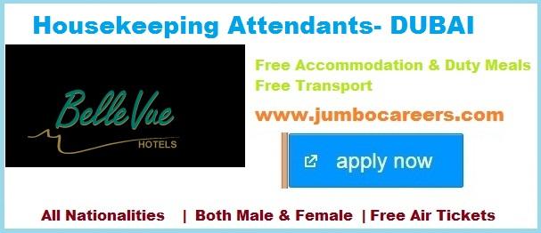 dubai hotel jobs, housekeeping jobs in dubao hotel