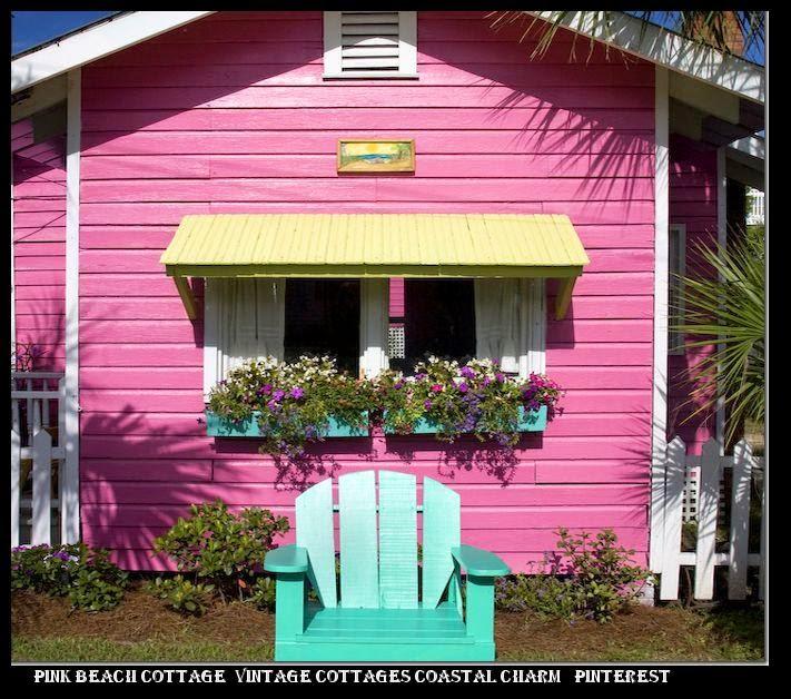 fef5c36ae0 ... designer tote bag pink beach cottage Vintage Cottages Coastal Charm