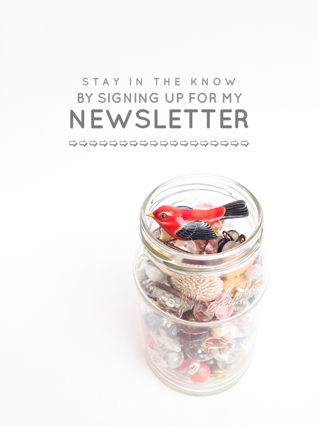 Stay in the know by signing up for my newsletter