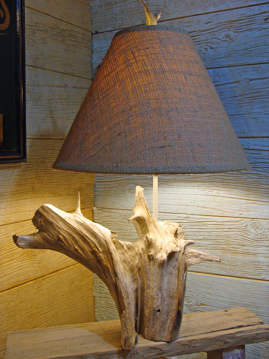 coastal creations design driftwood lamps beachcombed creations for your coastal home. Black Bedroom Furniture Sets. Home Design Ideas