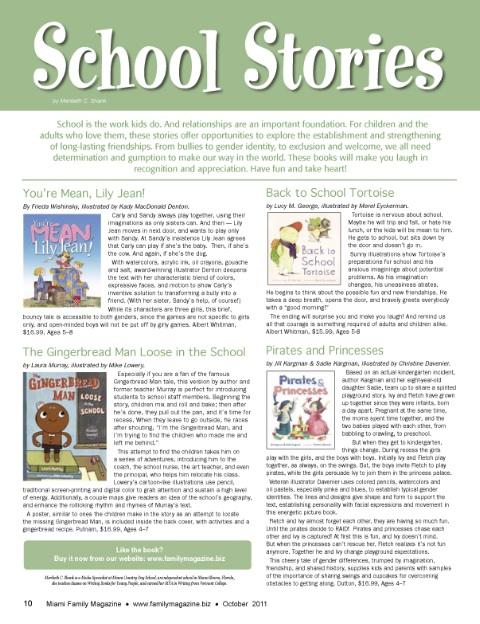 Meribeth's Musings: School Stories (FAMILY magazine reviews)