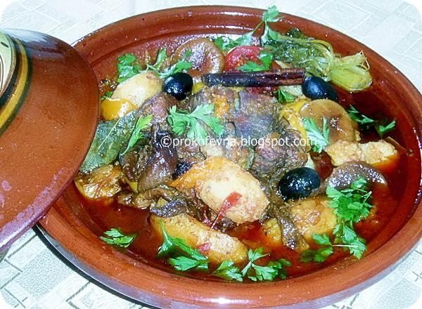 тажин из телятины с оливками