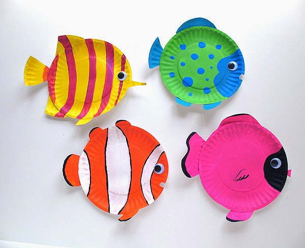 Aquarium Crafts and Classroom Bulletin Board Ideas for Fish