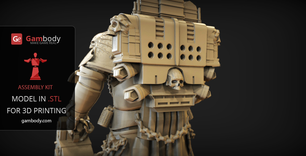 Warhammer 40K - Chaplain 3D Printable Model | Assembly figure