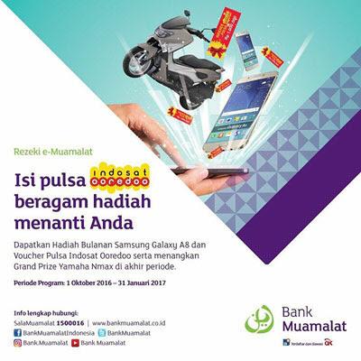 Isi Pulsa Indosat Ooredoo Berhadiah Yamaha Nmax – Bank Muamalat