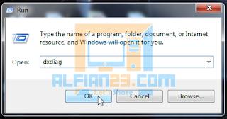 Menggunakan DXDIAG untuk cek spesifikasi laptop
