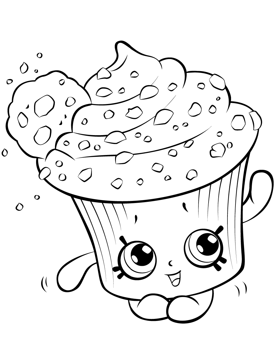 Click to see printable version of Cream Cake Shopkin Coloring page