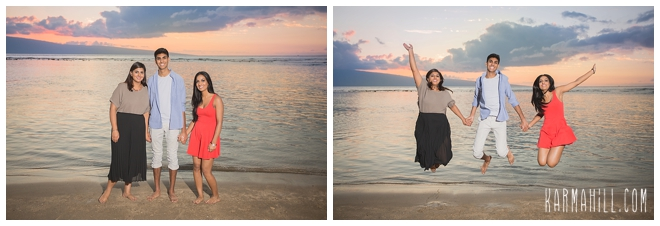 Maui family portraits on the beach