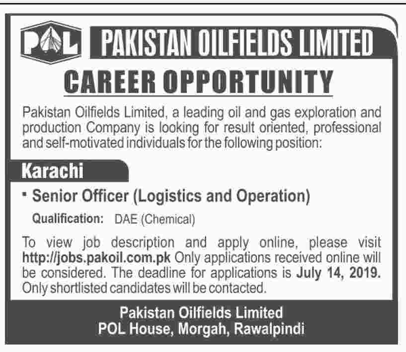 Pakistan Oilfields Jobs 2019 Online Apply | POL Jobs 2019