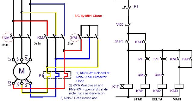 Star Delta Control Circuit Diagram
