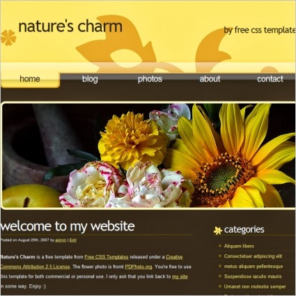 nature css html template