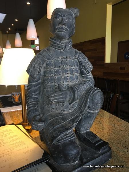 terracotta warrior statue at Shen Hua in Berkeley, California